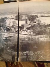Ephemera 1968 Picture Offham 2 Seperate Pages View M486