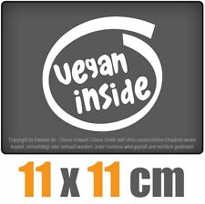 Vegan Inside 11 x 11 cm JDM decal Sticker Adhesivo racing la cut