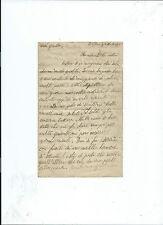 Lettera Marina Militare 1919 Incrociatore Regia Nave Carlo Alberto Portoferraio