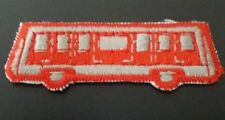 RED TRANSIT BUS Iron or Sew-On Patch
