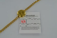 SOS BRACELET BANGLE MEDICAL ALERT/EMERGENCY/GOLD LADIES/MENS TALISMAN ID INFO