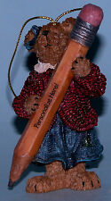 Boyds Bears ornament #257121 teacher holding a pencil school days personalize me