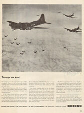 194 WW2 Ad  BOEING Aircraft 15 B-17 Fortress bombers in formation 090315