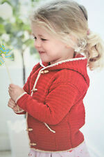 Girls Hoodie Hooded Cardigan Crochet Pattern