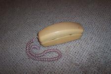 Beige Western Electric Rotary Dial Desk Phone Slim Design Vintage Telephone