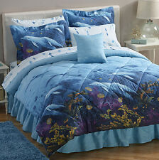 Dolphins, Beach, Tropical, Nautical Queen Comforter Set (8 Piece Bed In A Bag)