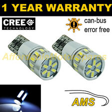 2X W5W T10 501 CANBUS ERROR FREE WHITE 18 SMD LED SIDELIGHT BULBS SL103102