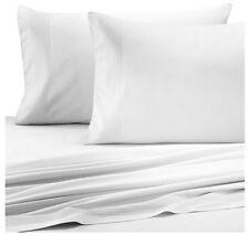 Barbara Barry Perfect Pleat Crisp White King Flat Sheet MSRP $125.00