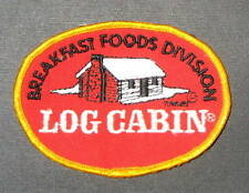 "LOG CABIN BREAKFAST FOOD SYRUP EMBROIDERED SEW ON ONLY PATCH 4"" x 3"""