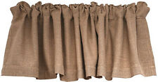 New Primitive French Country Natural Cotton BURLAP WINDOW VALANCE Curtains