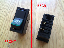 FIAT 127 147 2 POSITION ILLUMINATED GREEN FOG LIGHT PANEL MOUNT SWITCH