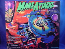 1996 MARS ATTACKS MOVIE ELECTRONIC DOOM SAUCER IN OPENED BOX not working!!