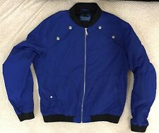 RARE�� Versace Jeans Varsity Royal Blue Full Zip Jacket Cuffed & Lined Men's XL