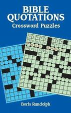 Bible Quotations Crossword Puzzles by Boris Randolph (2002, Paperback)