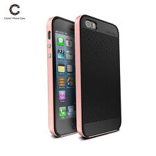 Shockproof Hard Bumper Soft Rubber Hybrid Slim Case Cover For Apple iPhone 5 SE