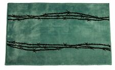 HiEnd Accents Kitchen and Bath Barbwire Rug, Turquoise, New, Free Shipping