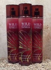 3 BATH AND BODY WORKS Fragrance Mist Splash Spray WILD MADAGASCAR VANILLA