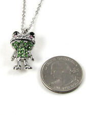 Silver Necklace with Frog Pendant