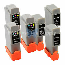 6 PACK BCI-24 NEW Ink for Canon Printer S200 S300 S330 i250 i320 i350 / BCI-24