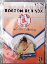 BOSTON RED SOX 2004 WORLD SERIES WINNER GLOBE PROMO PIN SERIES KEITH FOULKE