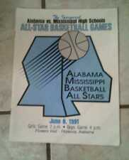 Alabama vs Mississippi High School All-Star Basketball Games 1991