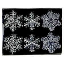 Premier Christmas Decoration 6 Pack Shatterproof Clear Snowflakes
