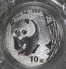 2001 China 1 Oz. Silver Panda - Sealed in Cap and Plastic