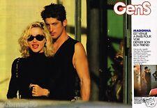 Coupure de presse  Clipping 1990 (4 pages) Madonna et Sean penn