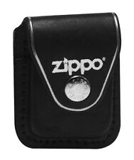 Zippo lighter pouch LPCBK w/clip black genuine leather NEW