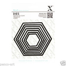 X Corte 7 Pc Nesting muere Hexagons Uso xcut Sizzix Big Shot Ebosser etc.. máquinas