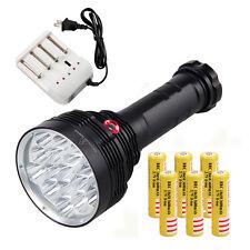 SKYRAY 80W Helligkeit 40000LM 16X XML T6 LED Taschenlampe Fackel 6x18650 Licht