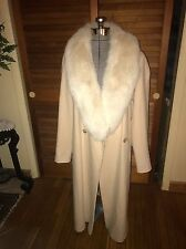 Original White Fox And Whool Coat , Peach Color Size 12 Large Marvin Richards