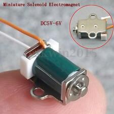 2Pcs DC 5V 6V Push Pull Type Inhaled Micro Miniature Solenoid Electromagnet New