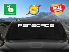Jeep Renegade Windshield Window Banner Decal Sticker 18 Colors Easy Install