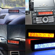 Auto Car Temperature Voltage Clock Digital LCD Thermometer Meter Monitor Alarm