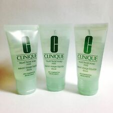 3 X Clinique Liquid Facial Soap Mild 1oz/30ml Each Travel Size *NEW*