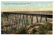 Postcard 1908 Southern Pacific Railroad Sunset Route High Bridge Pecos Texas Unu