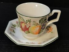 Johnson Brothers Fresh Fruit Cup Saucer Set Strawberry Floral MINT!