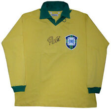 Pele Signed Vintage Brazil World Cup Long Sleeve Jersey #10 Auto COA RARE