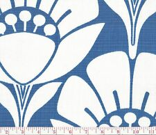 P Kaufmann Muse Blue Indoor Outdoor Floral Print Upholstery Fabric BTY