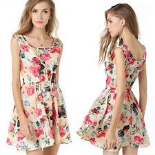 Sexy Women's Dress Summer Slessvess Evening Party Cocktail Short Mini Dress BGL