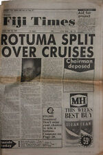 WALES RUGBY TOUR SOUTH SEAS 1986 FIJI TIMES 30th May 1986 NEWSPAPER + COA