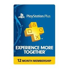 Sony PS PlayStation Plus 1 Year Membership Card 12 Month for PS4, PS3, PS Vita