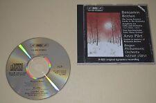 Benjamin Britten & Javo Pärt / Neeme Järvi / Grammofon AB BIS 1989 / Rare 1st.