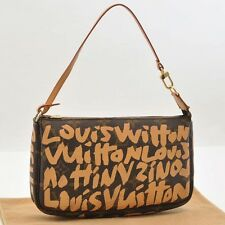 Auth Louis Vuitton Monogram Graffiti Pochette Accessoires Pouch M92193 #S2585