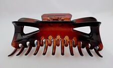 Jumbo hair clip claw tortoise shell squeeze spring open plastic clamp