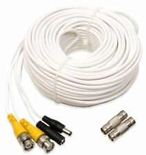Q-See QS100B Video and Power 100-Foot BNC Male Cable with 2 Female Connectors ,