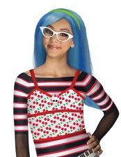 Brainy Monster High Super Star Ghoulia Yelps Frosted Blue Girl Polyester Wig
