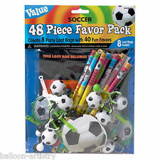 48 Piece Football Soccer Party Gifts Toys Loot Bag Favour Pack
