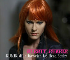 KUMIK Milla Jovovich 1/6 Head Sculpt For Hot Toys Female Body SHIP FROM USA